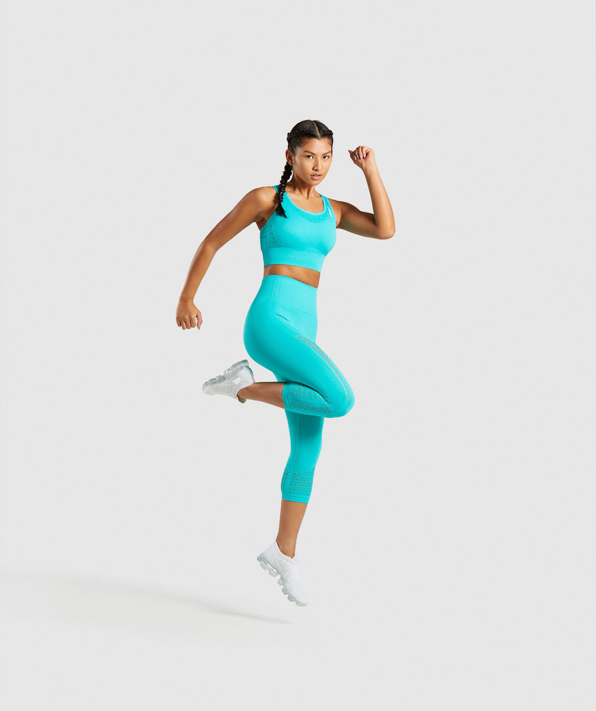 Gymshark Energy+ Seamless Crop Top - Tropical Blue 6
