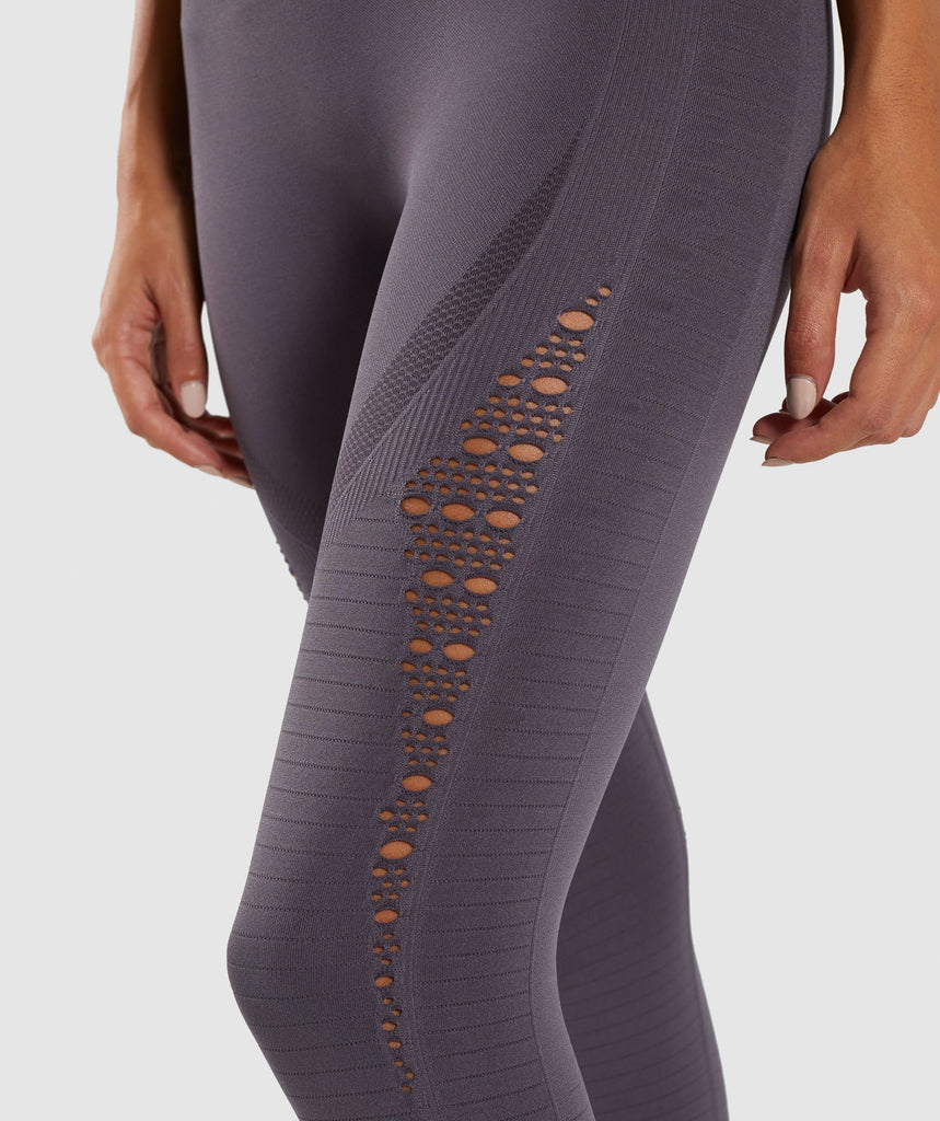 Gymshark Energy+ Seamless Cropped Leggings - Slate Lavender 5