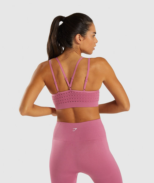 Gymshark Energy+ Seamless Sports Bra - Dusky Pink 1