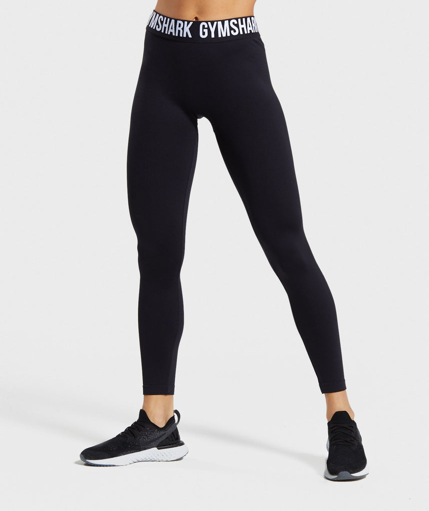 Gymshark Fit Leggings - Black/White 1