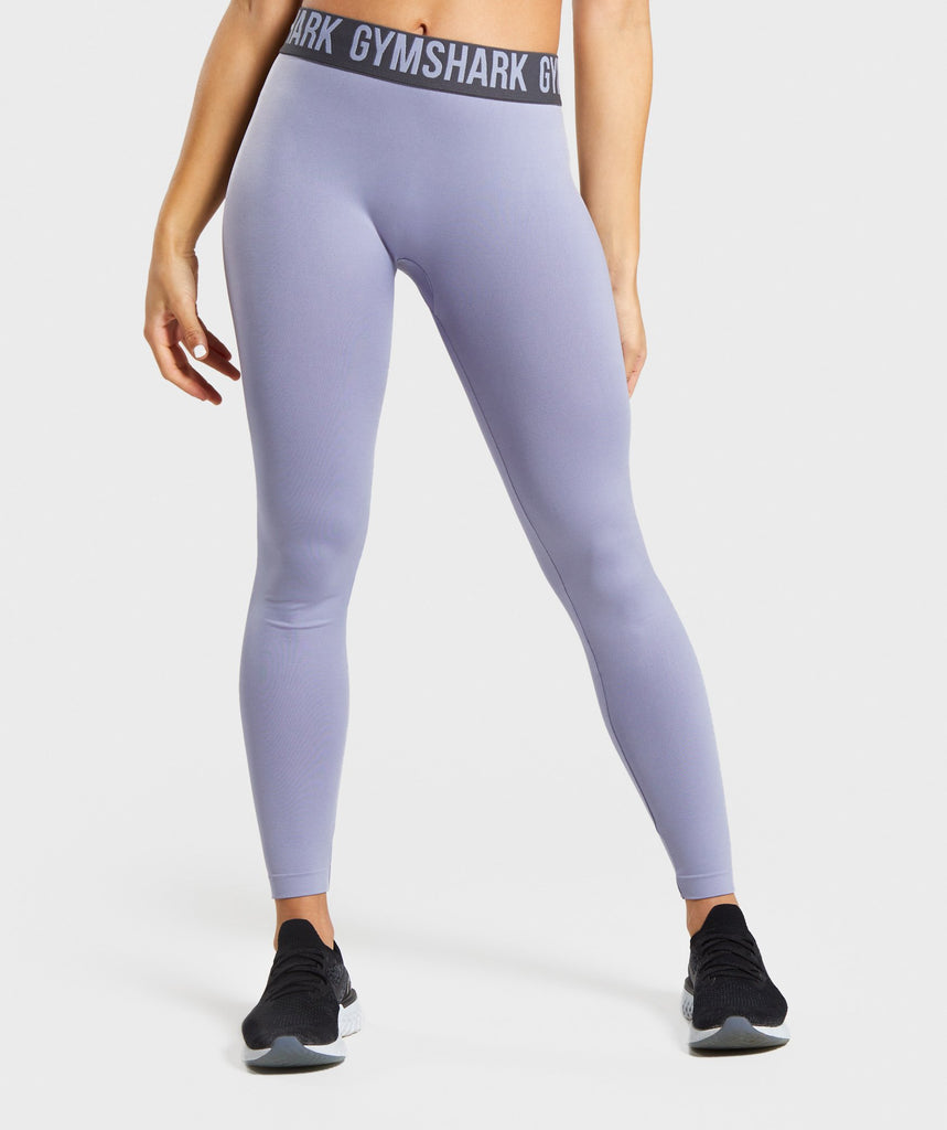 Gymshark Fit Leggings - Blue/Charcoal 1