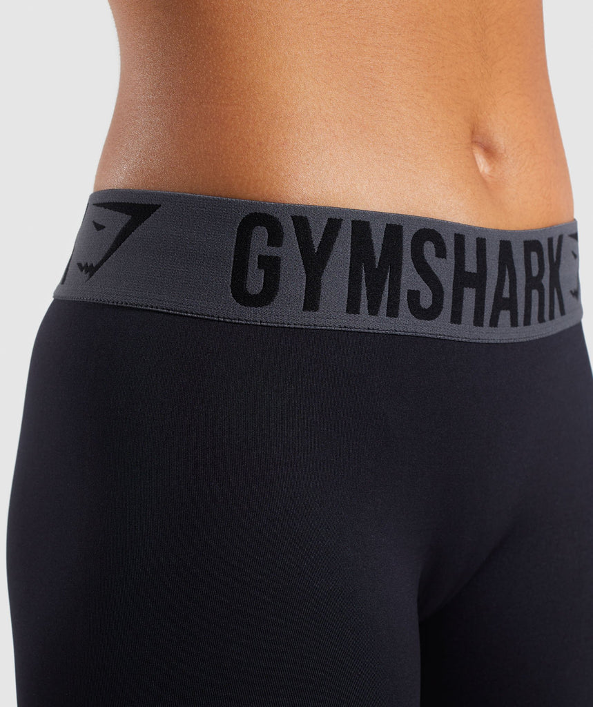 Gymshark Fit Cropped Leggings - Black 5