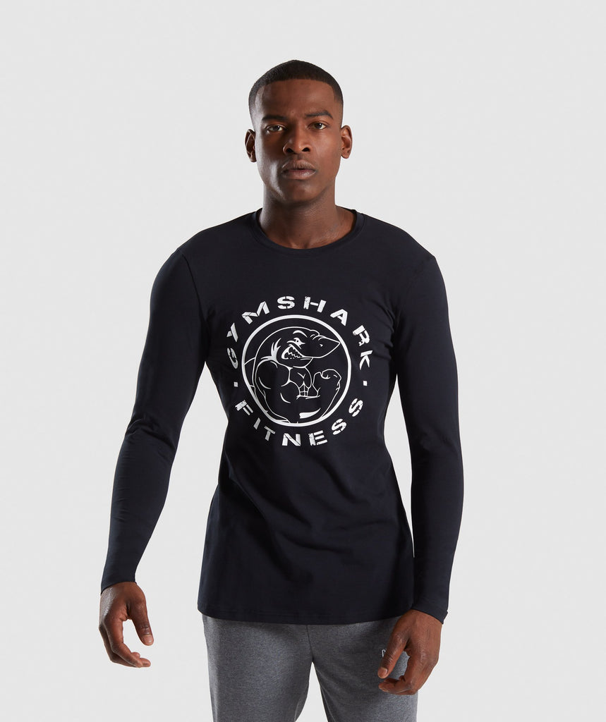 Gymshark Legacy Long Sleeve T-Shirt - Black 1