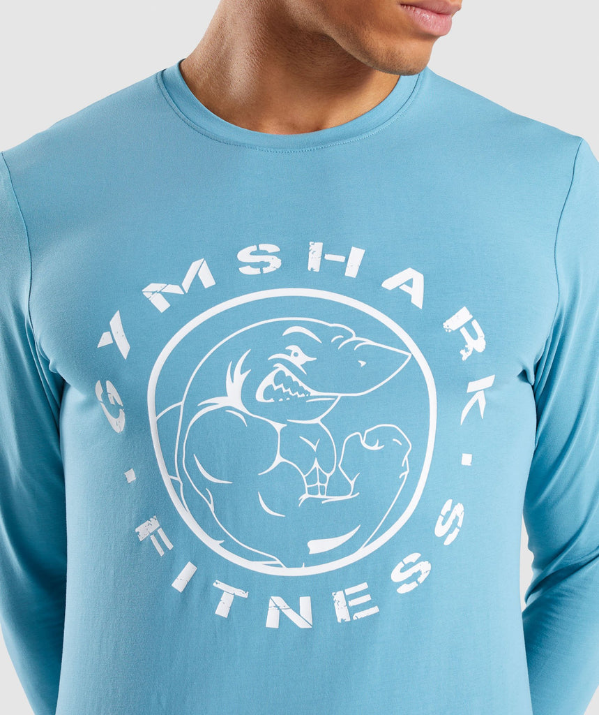 Gymshark Legacy Long Sleeve T-Shirt - Dusky Teal 5