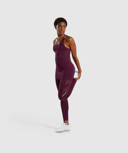 Gymshark Flawless Knit Vest - Ruby 3