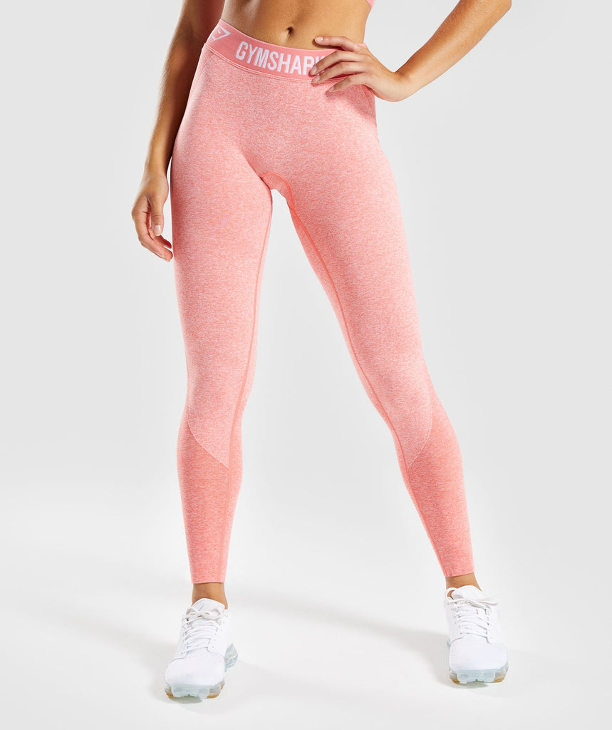 Gymshark Flex Leggings - Peach Coral 1