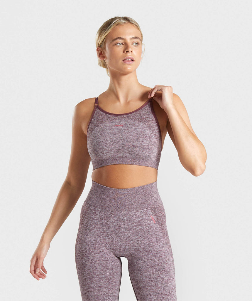 Gymshark Flex Strappy Sports Bra - Berry/Rose 1