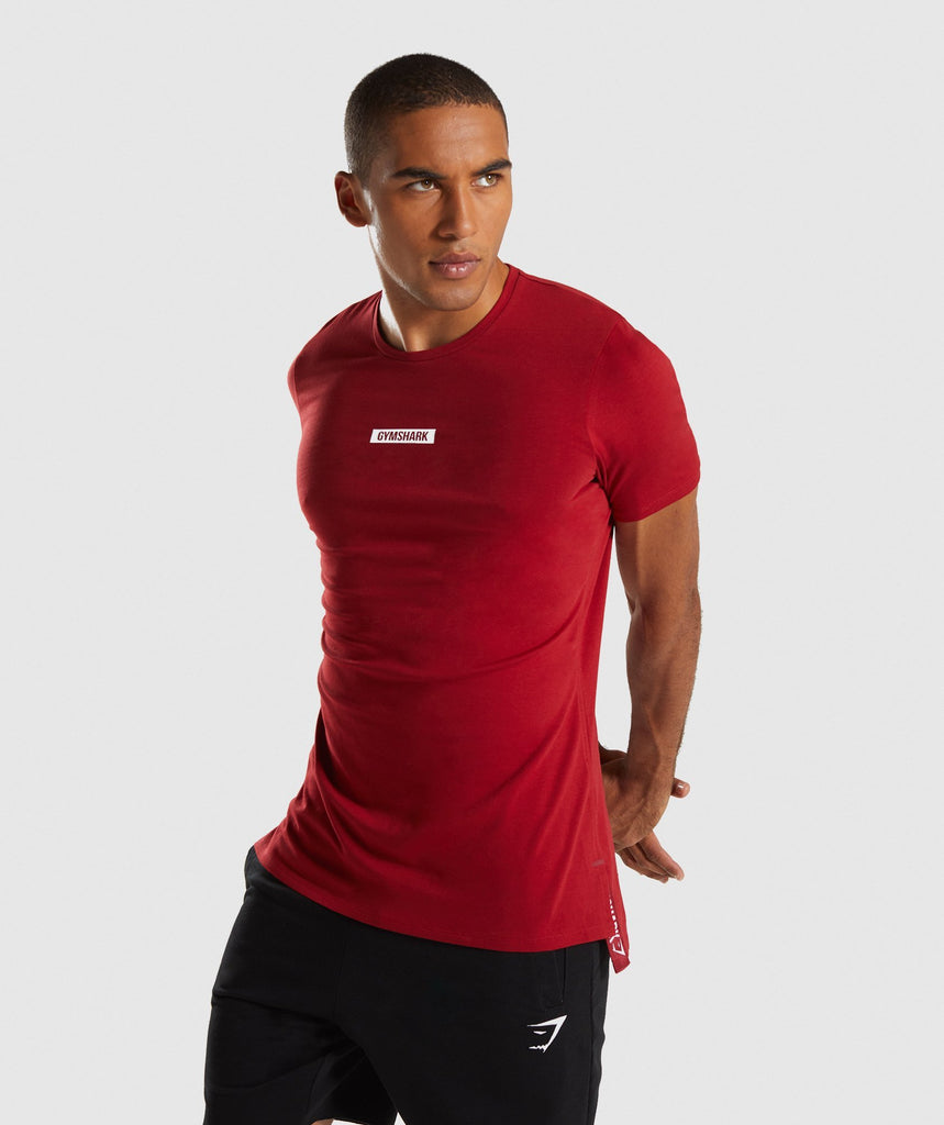 Gymshark Central T-Shirt - Full Red 4