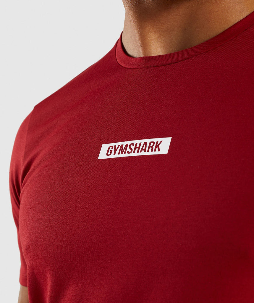 Gymshark Central T-Shirt - Full Red 5