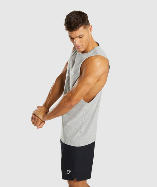 Gymshark Score Tank - Light Grey Marl 4