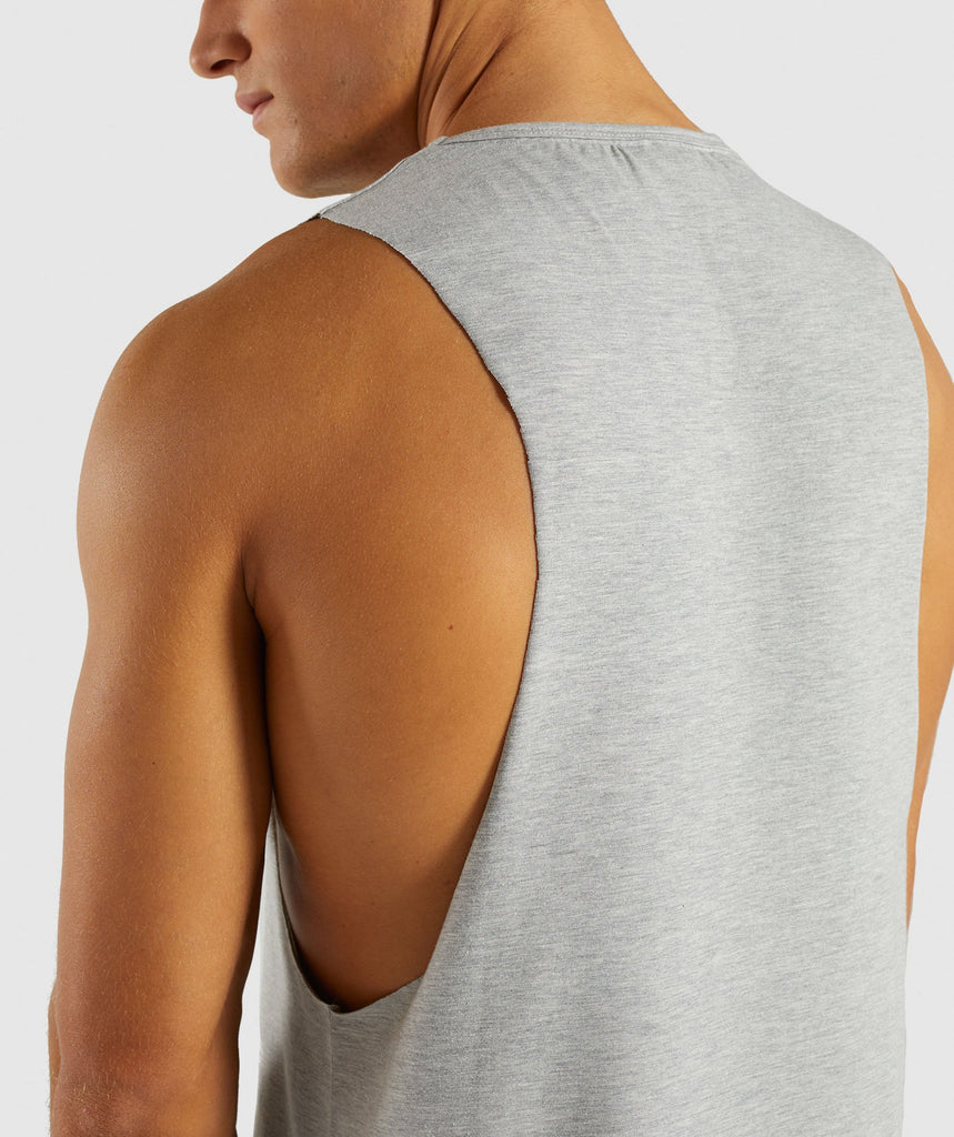 Gymshark Score Tank - Light Grey Marl 5