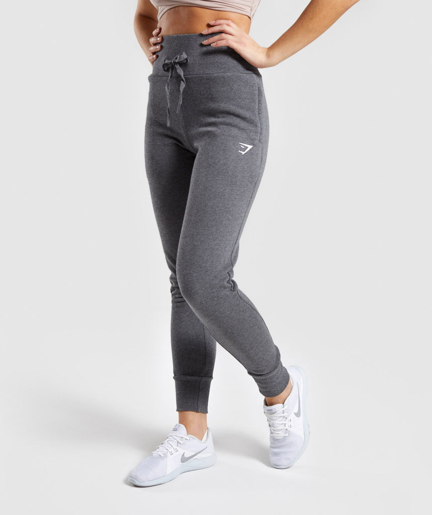 Gymshark High Waisted Joggers - Charcoal Marl 1