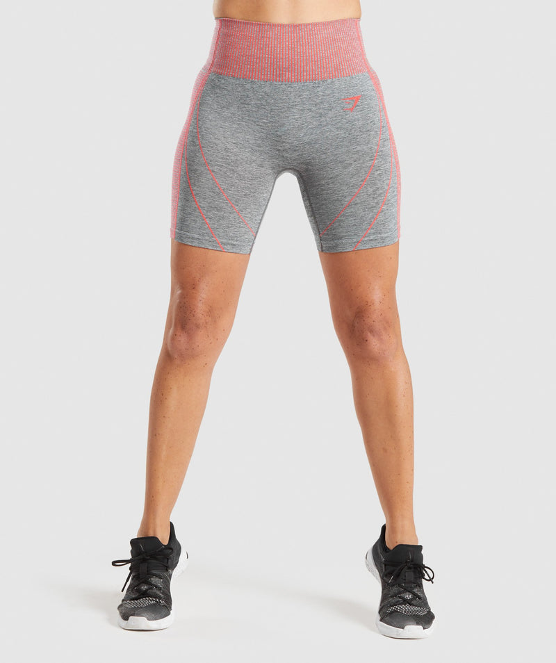Gymshark Hyper Amplify Shorts - Charcoal Marl/Coral