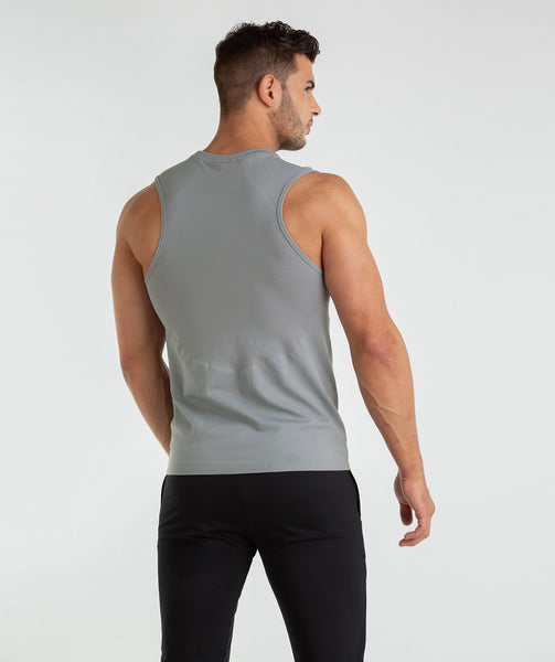Gymshark Onyx Imperial Tank - Light Grey 1