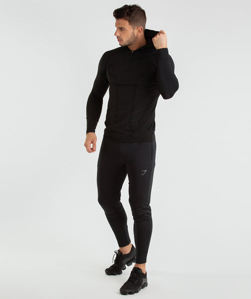 Gymshark Onyx Imperial Long Sleeve Hooded Top - Black 3