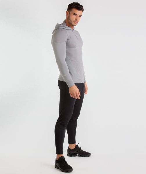 Gymshark Onyx Imperial Long Sleeve Hooded Top - Light Grey 3