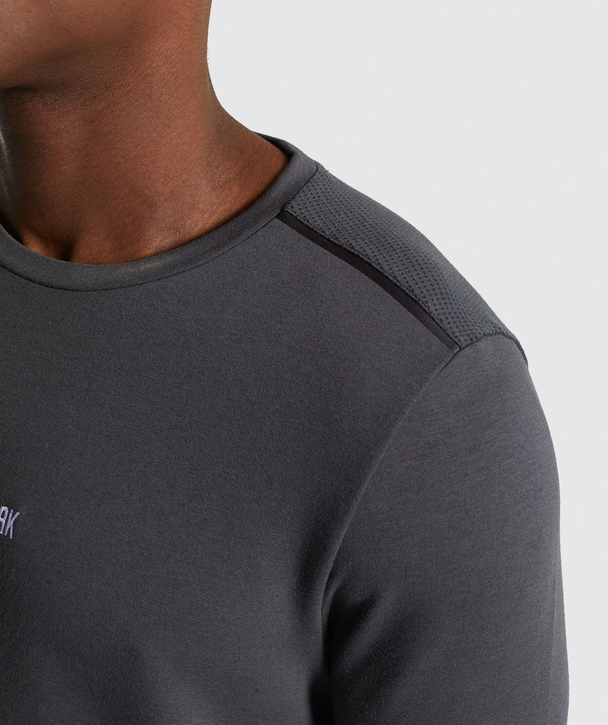 Gymshark Jacquard Back Long Sleeve T-Shirt - Charcoal Marl 5