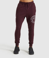 Gymshark Legacy Plus Joggers - Dark Red 7