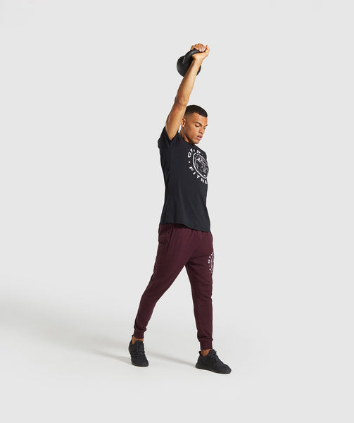 Gymshark Legacy Plus Joggers - Dark Red 3