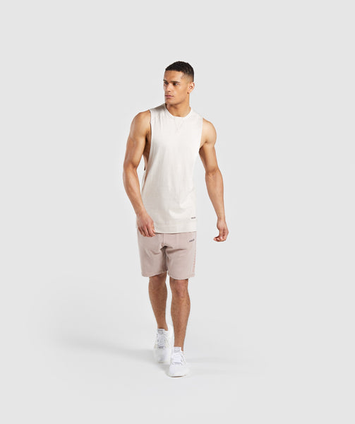 Gymshark Laundered Drop Arm Tank - Chalk Grey 3