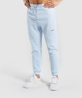 Gymshark Laundered Joggers - Light Blue 7
