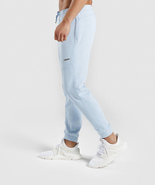 Gymshark Laundered Joggers - Light Blue 2