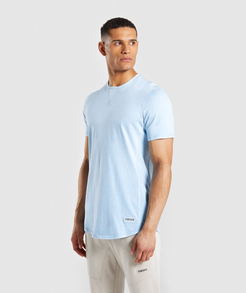 Gymshark Laundered T-Shirt - Light Blue 1