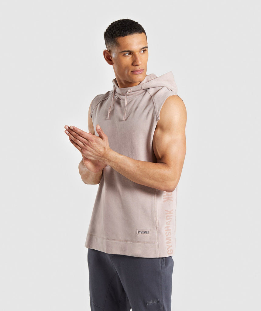 Gymshark Laundered Sleeveless Hoodie - Nude 1