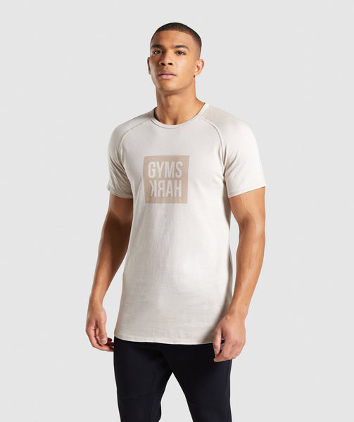 Gymshark Laundered Square Logo T-Shirt - Grey 4