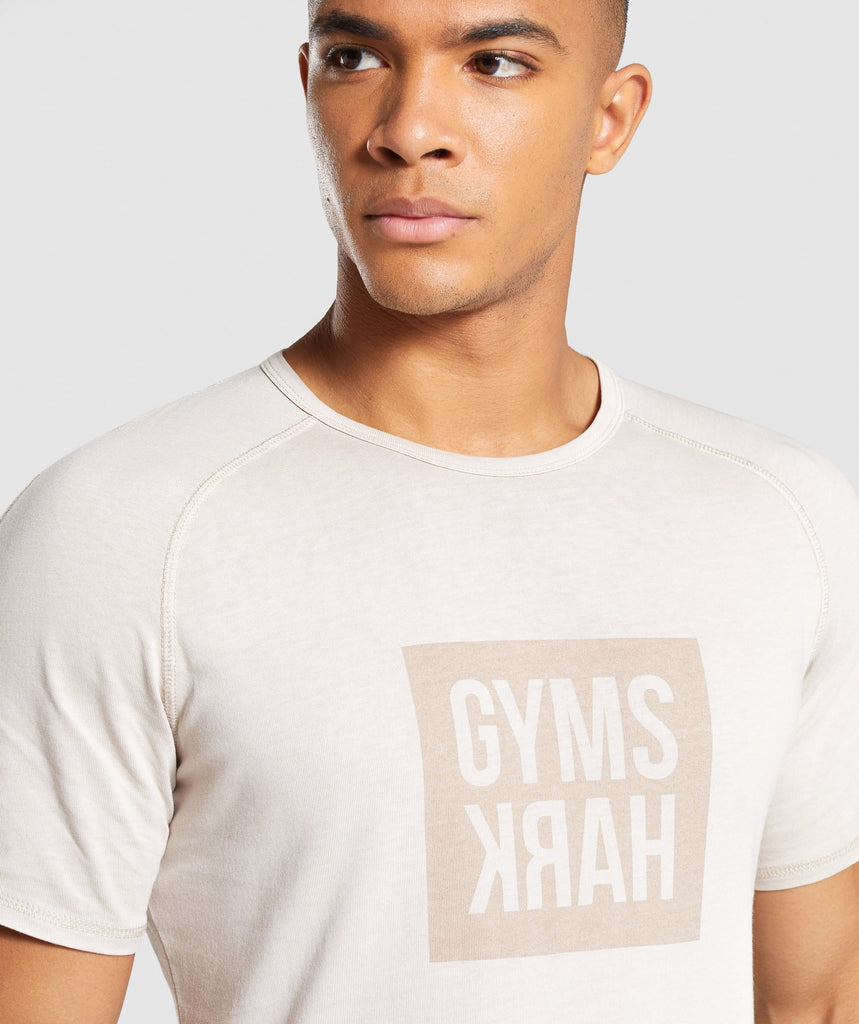 Gymshark Laundered Square Logo T-Shirt - Grey 5