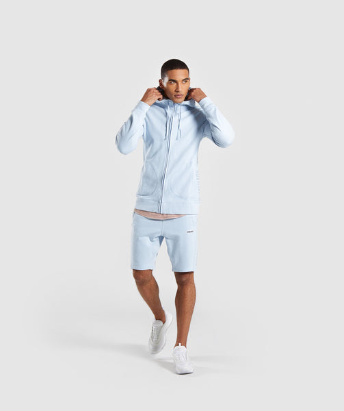 Gymshark Laundered Zip Hoodie - Light Blue 2
