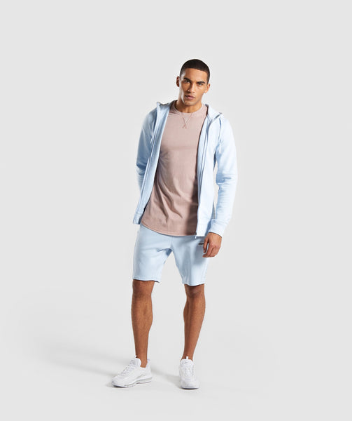 Gymshark Laundered Zip Hoodie - Light Blue 3