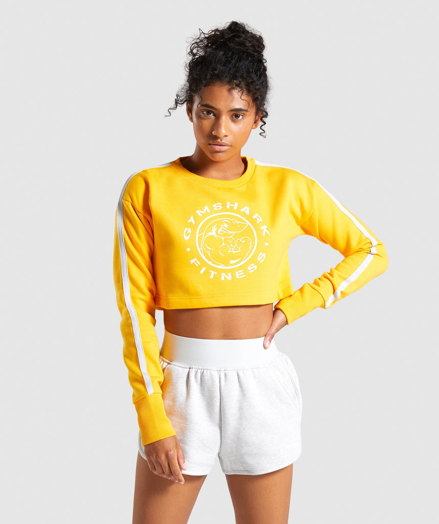 Gymshark Legacy Fitness Sweater - Yellow 1