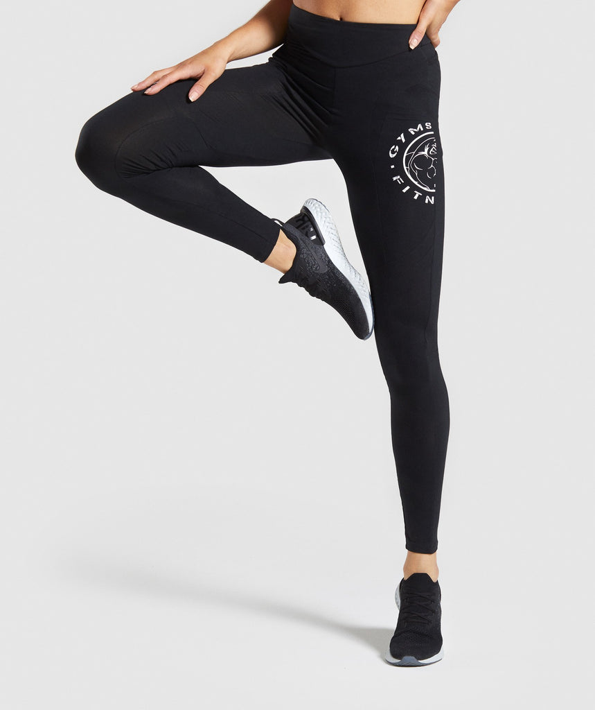 Gymshark Legacy Fitness Panel Leggings - Black 1
