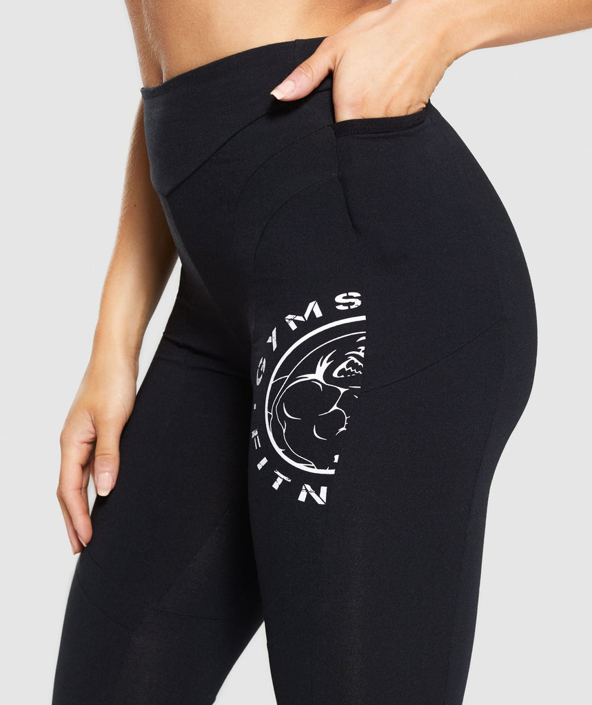 Gymshark Legacy Fitness Panel Leggings - Black 5