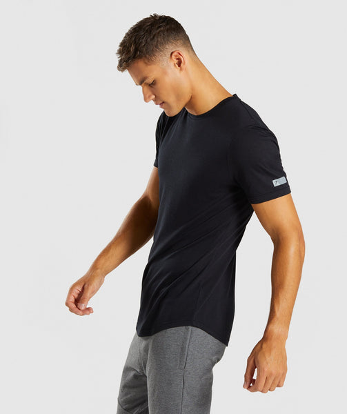 Gymshark Perforated Longline T-Shirt - Black 1