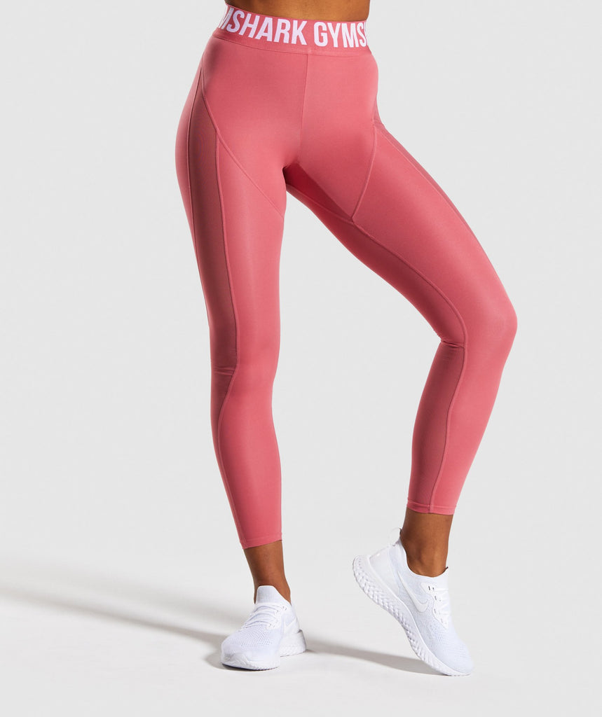 Gymshark Movement Mesh Leggings - Rose Slate 1