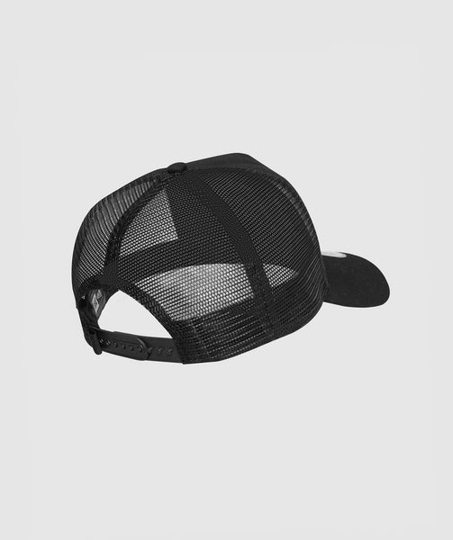 Gymshark New Era Mesh Trucker - Black/Black 1
