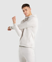 Gymshark Orbit Zip Hoodie - Light Grey 9