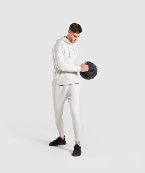 Gymshark Orbit Zip Hoodie - Light Grey 3