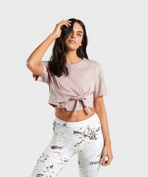 Gymshark Ori Crop Top - Taupe 4