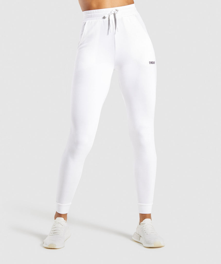 Gymshark Pippa Training Joggers - White 1