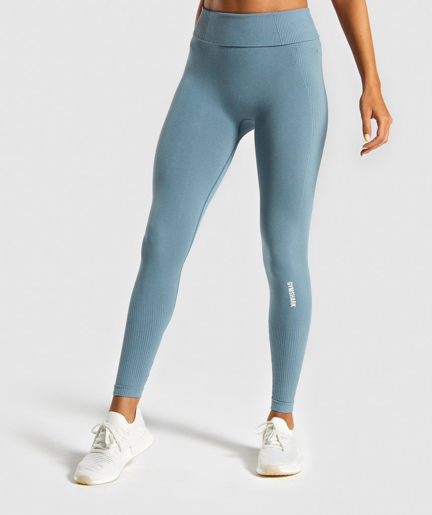 Gymshark Power Down Leggings - Turquoise 1