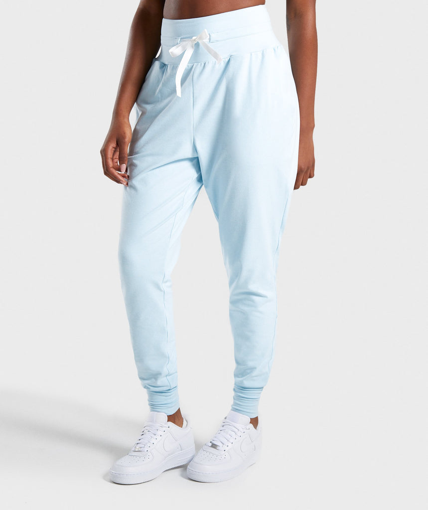 Gymshark Poise Hareem Joggers - Washed Blue 1