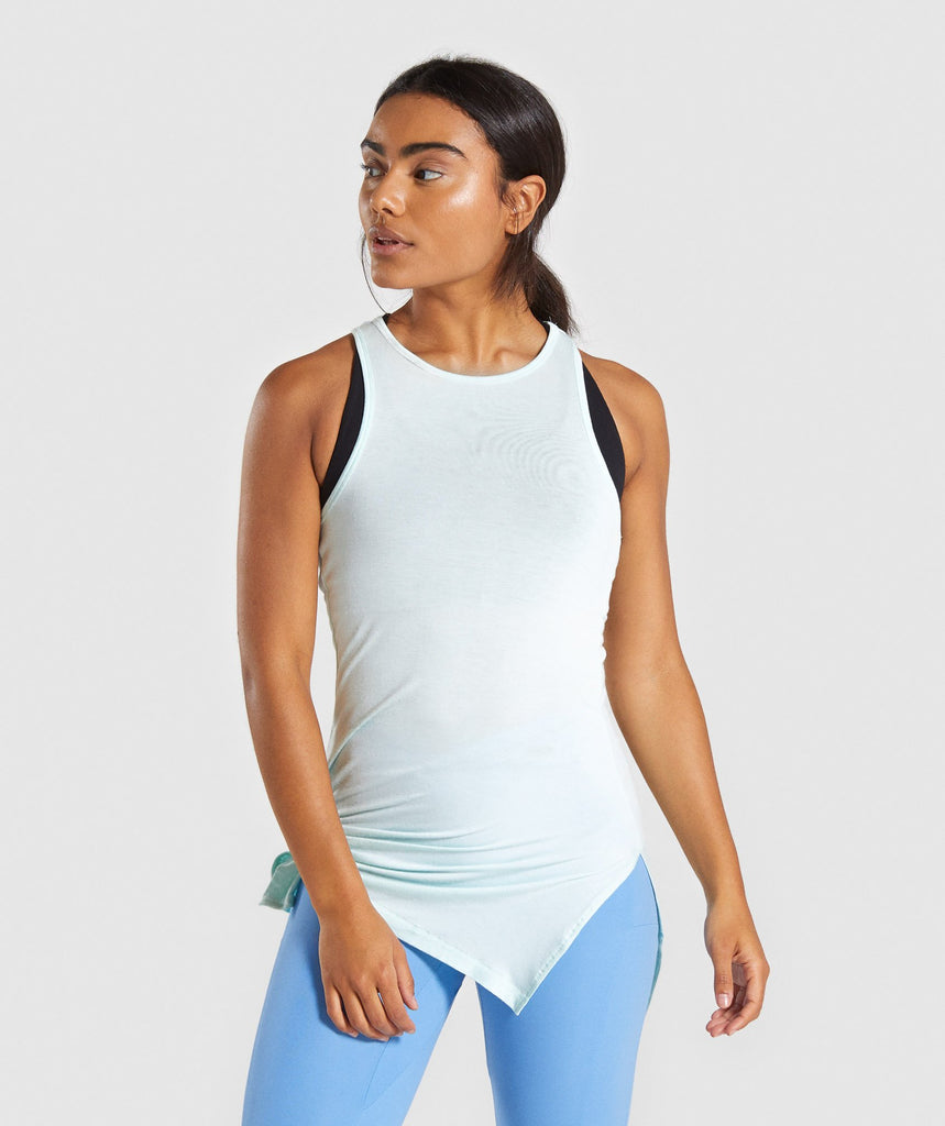 Gymshark Poise Longline Vest - Washed Green 1