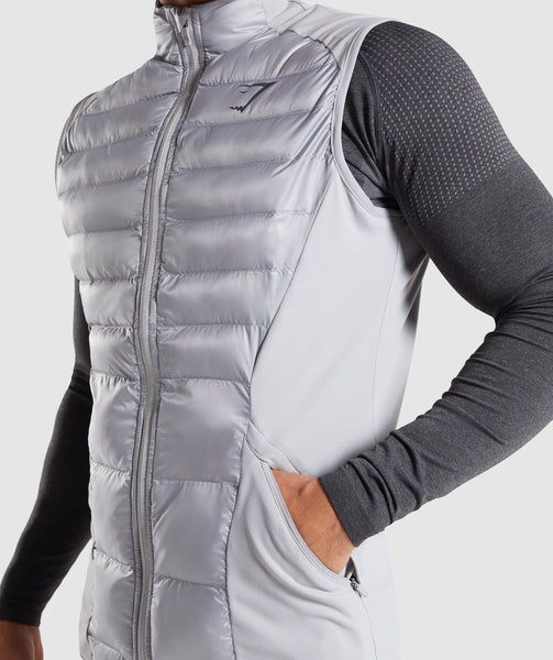 Gymshark Power Lightweight Gilet - Light Grey 4