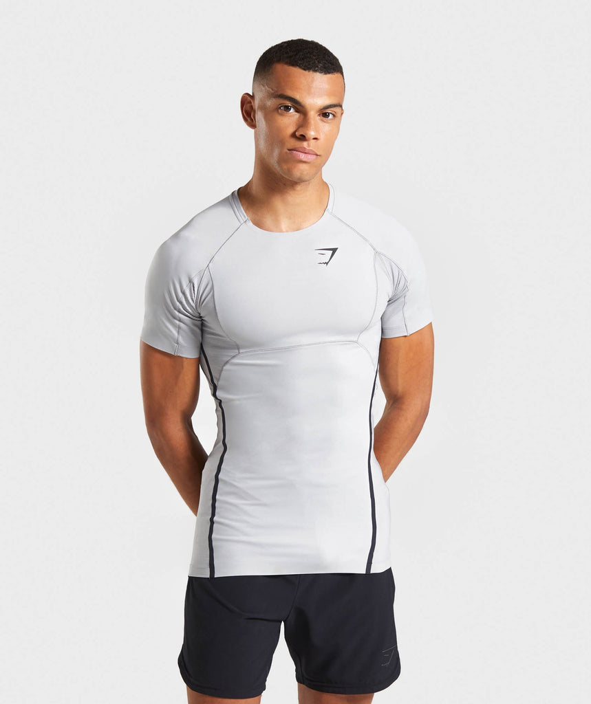 Gymshark Premium Baselayer T-Shirt - Light Grey 4