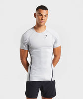 Gymshark Premium Baselayer T-Shirt - Light Grey 7