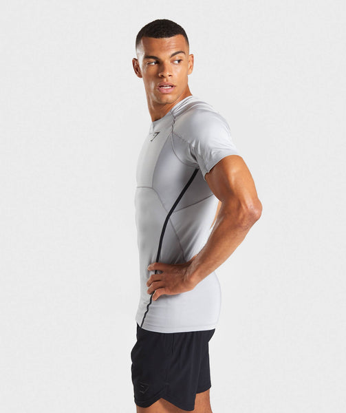 Gymshark Premium Baselayer T-Shirt - Light Grey 2
