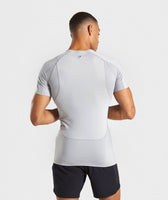 Gymshark Premium Baselayer T-Shirt - Light Grey 8